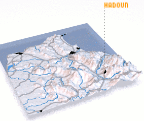 3d view of Hadoun