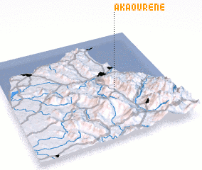 3d view of Akaourene