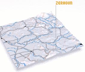 3d view of Zerhoun