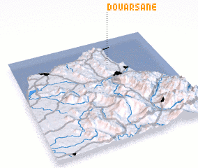 3d view of Douar Sane