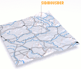 3d view of Sidi Bousber