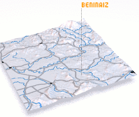 3d view of Beni Naïz