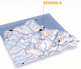 3d view of Bou Mahla