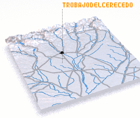 3d view of Trobajo del Cerecedo