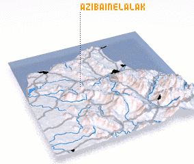 3d view of Azib Aïn el Alak