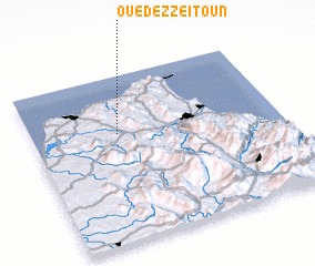 3d view of Oued ez Zeïtoun