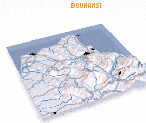3d view of Bou Hamsi