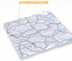 3d view of Douar Bou Hassina