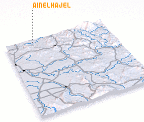3d view of Aïn el Hajel