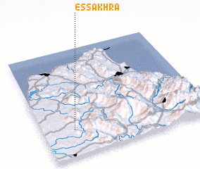 3d view of Es Sakhra