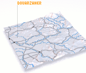 3d view of Douar Zaher