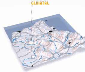 3d view of El Hiatal