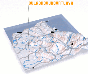 3d view of Oulad Boujnoun Tlaya