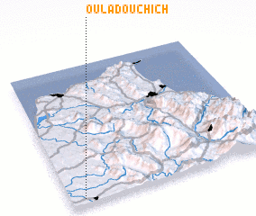 3d view of Oulad Ouchich