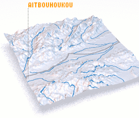 3d view of Aït Bou Houkou