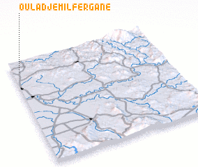 3d view of Oulad Jemil Fergane