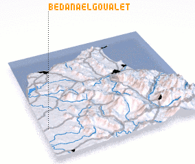 3d view of Bedana el Goualet
