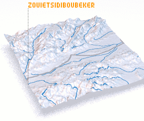 3d view of Zouiet Sidi Bou Beker