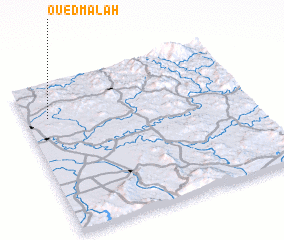 3d view of Oued Malah
