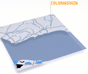 3d view of Colonia Suiza