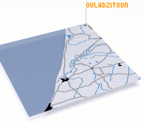 3d view of Oulad Zitoun