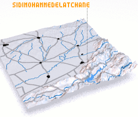 3d view of Sidi Mohammed el Atchane