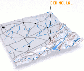 3d view of Beni Mellal