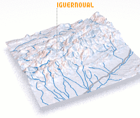 3d view of Iguer n'Oual