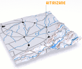 3d view of Aït Irizane