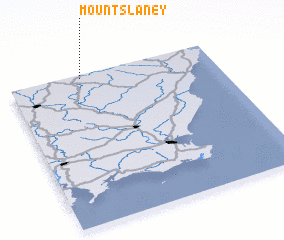 3d view of Mount Slaney