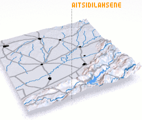 3d view of Aït Sidi Lahsene