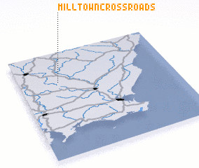 3d view of Milltown Cross Roads