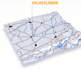 3d view of Oulad Slimane
