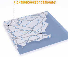 3d view of Fighting Cooks Cross Roads