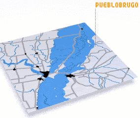 3d view of Pueblo Brugo