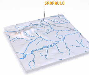 3d view of São Paulo