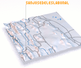 3d view of San José del Eslabonal