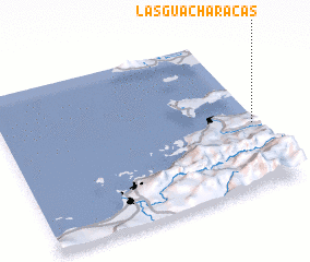 3d view of Las Guacharacas