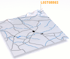 3d view of Los Torres