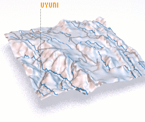 3d view of Uyuni
