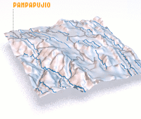 3d view of Pampa Pujio