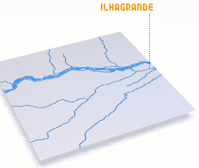 3d view of Ilha Grande