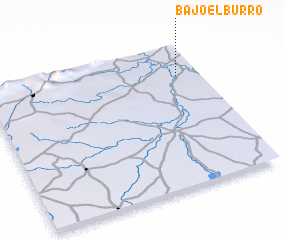 3d view of Bajo el Burro