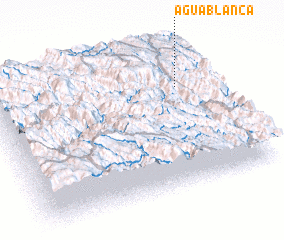 3d view of Agua Blanca