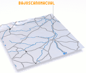 3d view of Bajos Caño Macual
