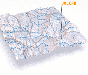 3d view of Volcán