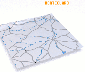 3d view of Monte Claro
