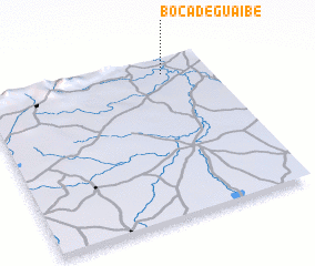 3d view of Boca de Guaibe