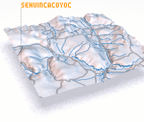 3d view of Sehuincacoyoc