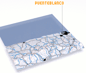 3d view of Puente Blanco
